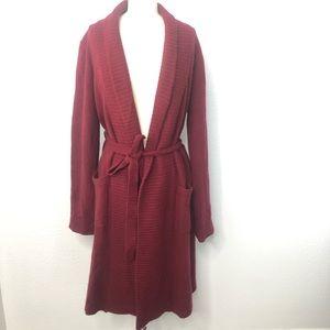 Garnet Hill Wool / Angora Long Open Front Sweater